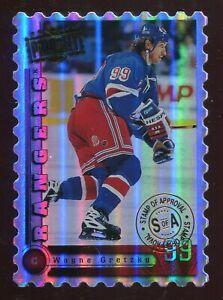 1997-98 Donruss Priority #10 Wayne Gretzky Stamp of Approval - #ed 057/100