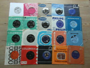 "JOB LOT COLLECTION OF 1960's 7"" 45rpm VINYL SINGLES x 20 VG-EX"