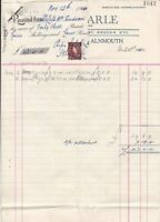 John Earle General Stoes Alnmouth 1954 Newsagent Invoice & Stamp Receipt Rf38719