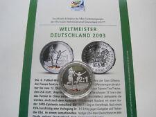 Silber Gedenkprägung - Frauen Fussball WM 2011 , Silber 333er,15gr.,36mm  #1574