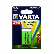 Varta READY TO USE RECHARGEABLE BATTERY for Common Smoke Alarms, 200mAh 9V
