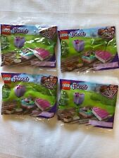 Lego 30411 Friends Chocolate Box & Flower New Sealed Polybag 75 Pcs Ea (4 Pkgs)