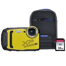 Fujifilm FinePix XP140 Tough Camera Bundle with 32GB SD Card & Case - Yellow