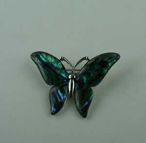 Paua Muschel Brosche  Schmetterling  Neuseeland