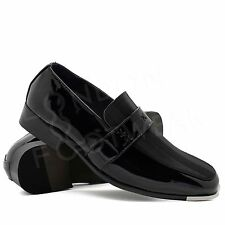 New Mens Italian Style Patent Leather Formal Black Wedding Shoes Office UK 6-11
