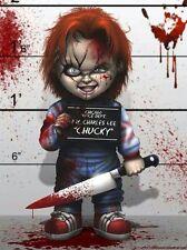 Quadro con disegno Chucky la bambola assassina horror