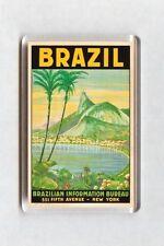 Vintage Travel Poster Fridge Magnet - Rio de Janeiro, Brazil