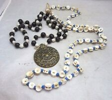 2x  Haiti beads necklaces. Shark cartilage & Jacobs tears. Jane Barbancourt Rum