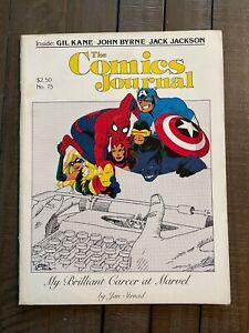The Comics Journal #75-Gil Kane-John Byrne-Jan Strnad-Kevin Nowlan-1982