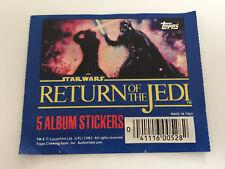 1983 Topps UK: Star Wars Return of the Jedi Sticker Pack - Rare