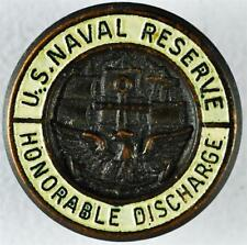 US Naval Reserves, Honorable Discharge Button Stud, Pin   #A15