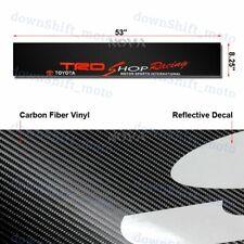 "Windshield Carbon Fiber Vinyl Banner For TOYOTA JDM TRD Racing Decal Sticker 53"""