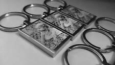 Photo personnalisé gravé En Acier Inoxydable Porte-clés Rectangle haute qualité