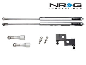 NRG Hood Bonnet Damper Kit Stainless Steel For 03-08 Nissan 350Z Z33 & 03-07 G35