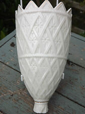 RARE Belleek China Wall Tasca VASE LIMITED EDITION completamente marcata