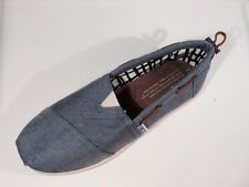 Toms Classics Blue/Denim Slip-on Shoes Size Y 2