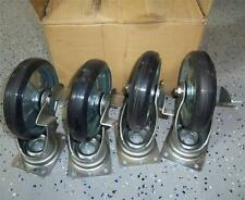 CREFORM BOLT-ON COASTER WHEEL W/ STOP P14421 *NEW, LOT OF 4*