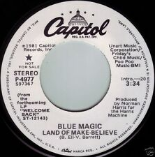 BLUE MAGIC Land Of Make Believe ((**NEW UN-PLAYED 45 DJ**)) from 1981