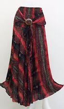 SKIRT HIPPY BOHO MAXI GYPSY CASUAL ELASTICATED COCO BUCKLE RAYON WOMAN AB163