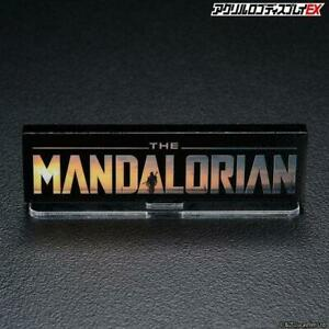 BANDAI ACRYLIC LOGO DISPLAY EX Star Wars : The Mandalorian (US Seller) (New)