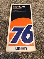 1972 Union 76 Michigan Vintage Road Map