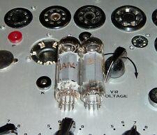 2 Amperex EL84 6BQ5 good matched pair kM4 Heerlen Holland amp tubes valves