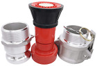 """Fire Hose Nozzle Spray Heavey Duty 2"""" NPSH  with 2x2 Inch With Two Camlocks New"""