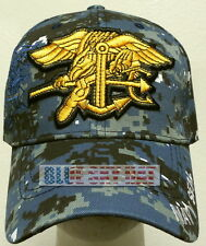 CAMO U.S. NAVAL USN NAVY SEAL TEAM SPECIAL WARFARE TRIDENT SEA AIR LAND CAP HAT
