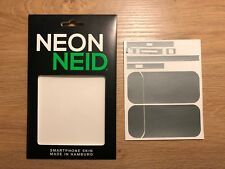 IQOS Device Designfolie Schutzfolie Klebe Folie - hellgrau Metallic NeonNeid