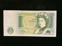 UK One Pound Banknote 1982 D H Somerset. UNC   CT45 796724