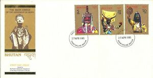 Bhutan The Mask Dance 1985 First Day Cover