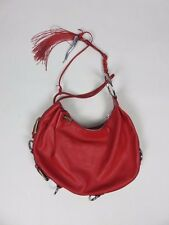Dolce & Gabbana RED LEATHER WRIST TIE SHOULDER BAG AUTHENTIC