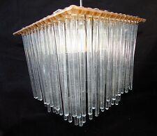 Mid-Century Modern Chandelier Triarch International 1414BR Brass Glass