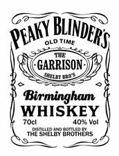 Peaky blinders shelby vinyl wall decal sticker, whisky Birmingham UK seller bbc1