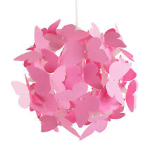 Modern Pink Butterflies Ceiling Pendant Light Lamp Shade Girls Bedroom Lighting