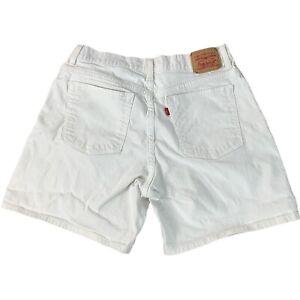 Levis Classics Jeans Stretch Shorts Size 14 Womens White Denim