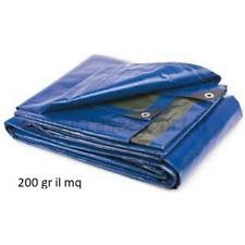 Toile Bâche avec Oeillet Imperméable Bleu/Gris Lourde 200 Gr Polyvalente 3 X 5
