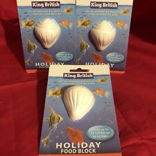 3x Vacation Holiday Fish Food Blocks For Upto 15 Tropical Coldwater Fish 14 Days