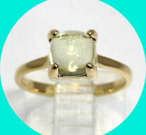 Tiffany Paloma Picasso retired Sugar Stacks ring 18K YG 1.65C lemon quartz pouch