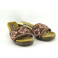 Sandalias con tiras de mujer de tacón medio (2,5-7,5 cm) de color principal marrón