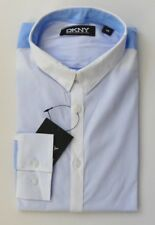 MENS Ex DKNY SHIRTS COTTON WITH STRETCH BLUE TURQUOISE GREY MEDIUM BNWOT