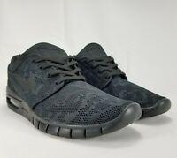 🔥 Nike SB Air Max Stefan Janoski 2 Men's Size 7 Triple Black 631303-099 🔥