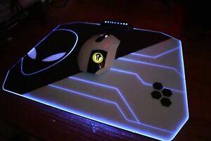 LED Mouse Pad Alienware 10 Colour PC Gaming Desk Computer Desktop Mousepad New