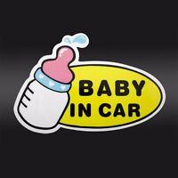 Baby in Car feeding Bottle Safety Sign Car Vinyl Sticker Window Decal Decor