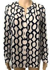 New Ex Debenhams Principles Light Pink Chain Print Chiffon Shirt Top 10 - 22 £34