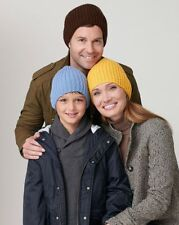EASY KNIT ARAN RIBBED HAT FOR THE FAMILY KNITTING PATTERN  AGE 4 - ADULT
