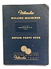 Vintage Milwaukee Milling Machines 2K & 3K Repair Parts Book Catalog