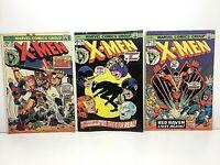 X-Men #89, 90 & 92 *Lot of 3* Bronze Age Comic Books Marvel Lower Grade