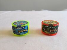 POKEMON Power Rollers set of 2 Bayleef & Mudkip 2006 Magic Box Int Nintendo ball