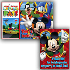 MICKEY MOUSE Playtime INVITATIONS AND THANK YOU NOTES (8ct ea.) ~ Party Supplies